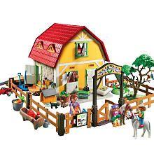60 Playmobil Children S Pony Farm Playmobil Toys R Us Playmobil Farm Buildings Playset