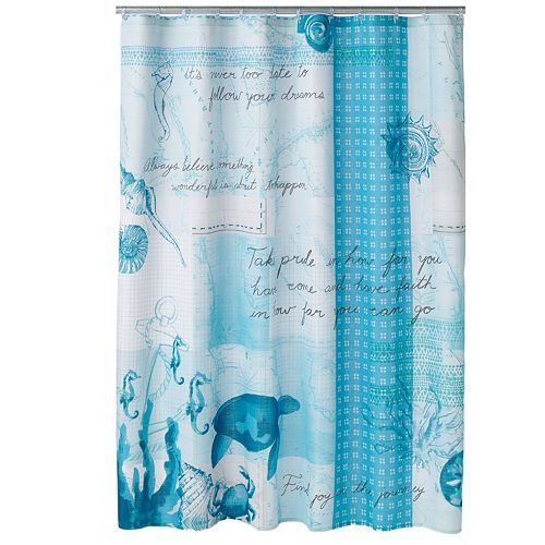 Sonoma Goods For Life Shoreline Fabric Shower Curtain With