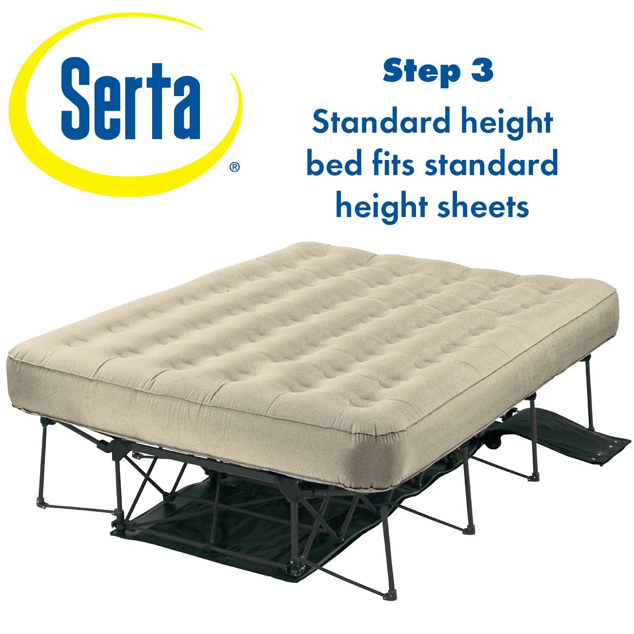 Amazon Com Serta Ez Air Mattress With Never Flat Pump Bedding Bath Twin Air Mattress Air Mattress Air Mattress Frame