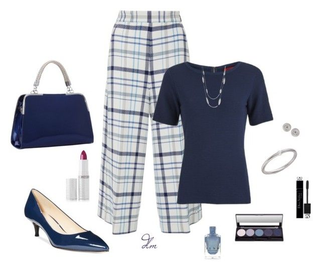 Navy by dmiddleton on Polyvore featuring polyvore fashion style HUGO MSGM Nine West Roberto Coin Le Métier de Beauté Christian Dior clothing