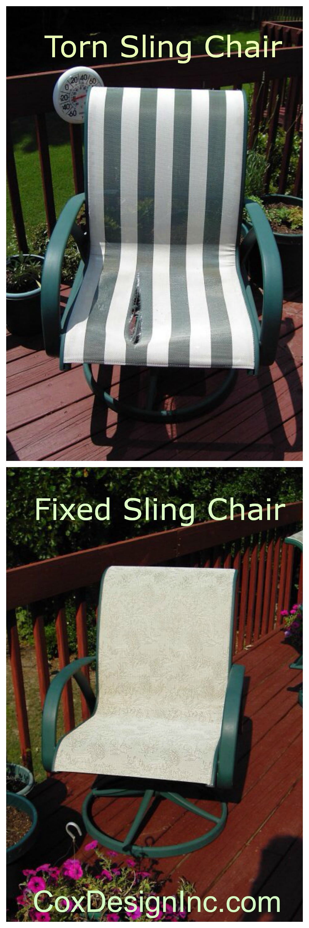We Can Replace The Fabric In Sling Type Chairs To Make Them Look New Again!