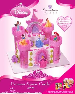 Disney Princess Castle Cake Kit cakepinscom Stuff to Buy