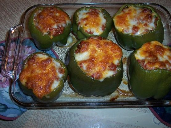 South Beach Stuffed Bell Peppers #bellpepperrecipes