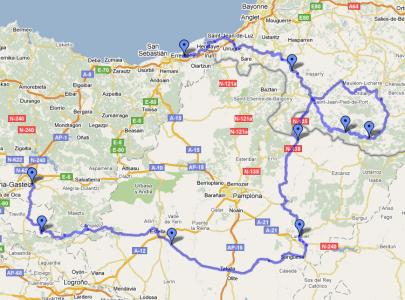 Mapa Pais Vasco Francia.Mapa Viaje Euskalherria Map