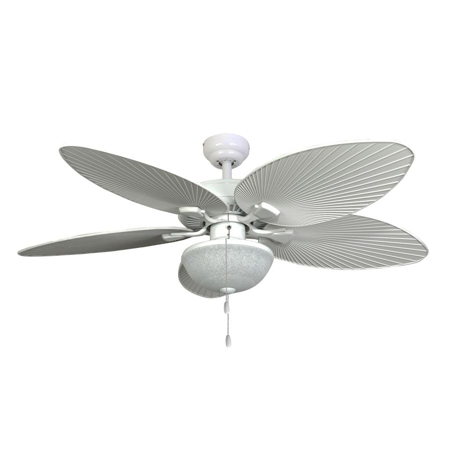 outdoor ceiling fans white. Shop Palm Coast Playa Mia 52-in White Outdoor Downrod Or Flush Mount Ceiling Fan Fans S