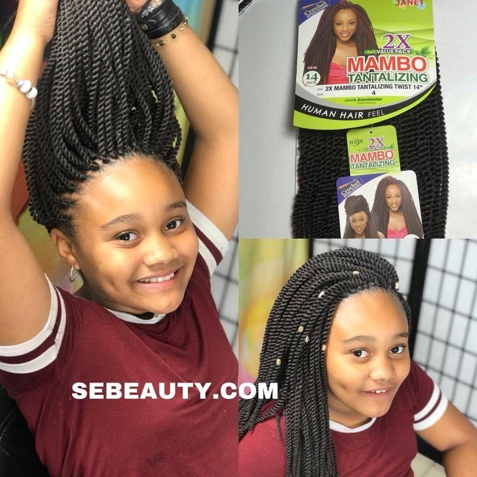 2x Mambo Tantalizing 14 Crochet Twist Crochet Braids For Kids Kids Crochet Hairstyles Crochet Twist