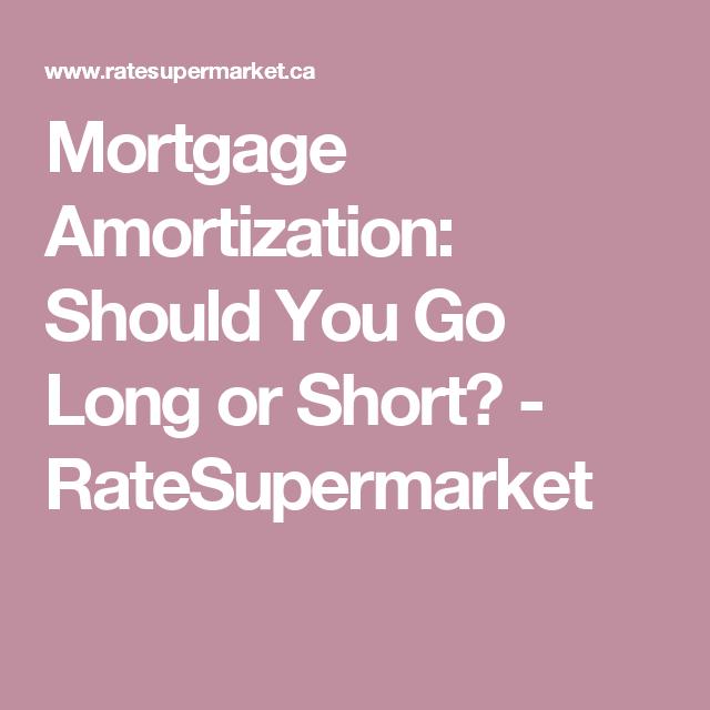 Mortgage Amortization Should You Go Long Or Short