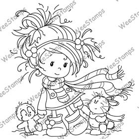 Catalog Whimsy Stamps Christmas Coloring Pages Art Impressions Stamps