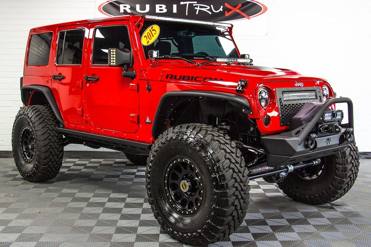 Pre Owned 2015 Jeep Wrangler Unlimited Red 2015 Jeep Wrangler