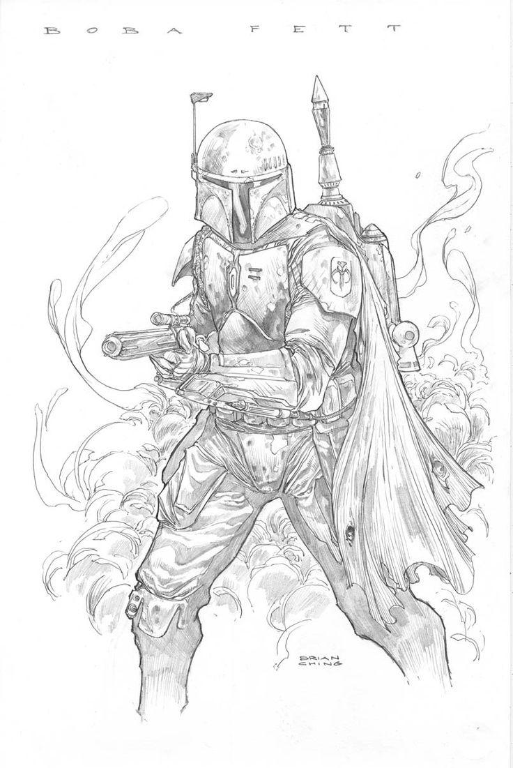Boba Fett by Brian Ching Star wars drawings, Star wars