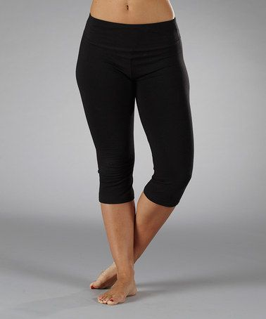 f145752c17fdd Take a look at this Black Magic Essential Tummy Control Capri Pants by  Marika on #zulily today!