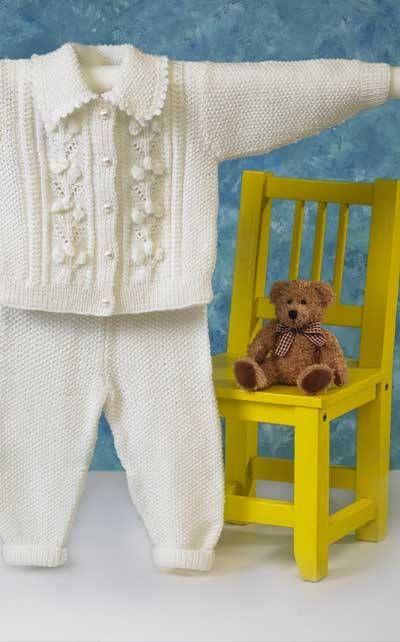 Vauvan palmikkojakku ja housut