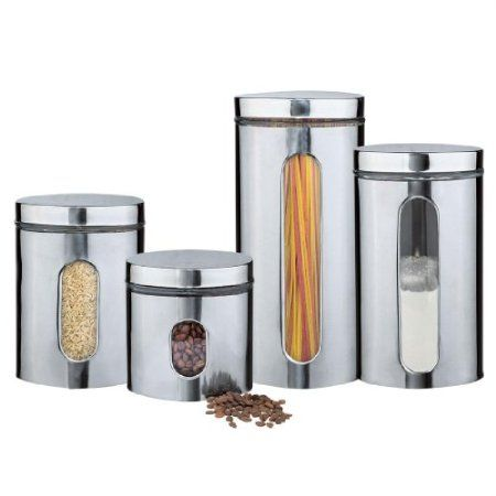 Amazon Com Brylanehome Stainless Steel Clear View Canister Set