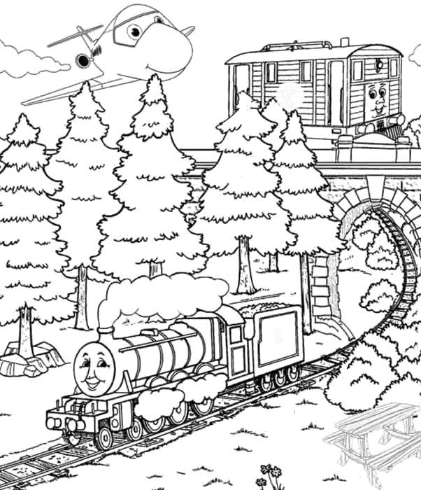 Printable Henry With Friend Train Coloring Pages