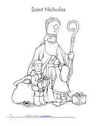 Cute Ideas For St Nicolas Day Including Coloring Page And How To