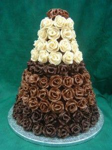 Chocolate rose tower cake