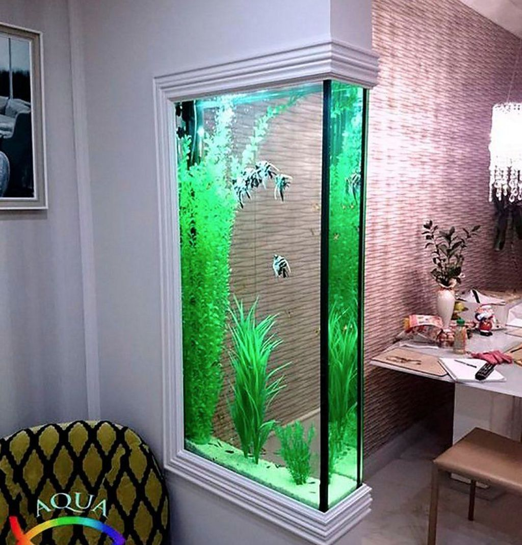 47 Awesome Aquarium Partition Ideas Aquarium Design Wall