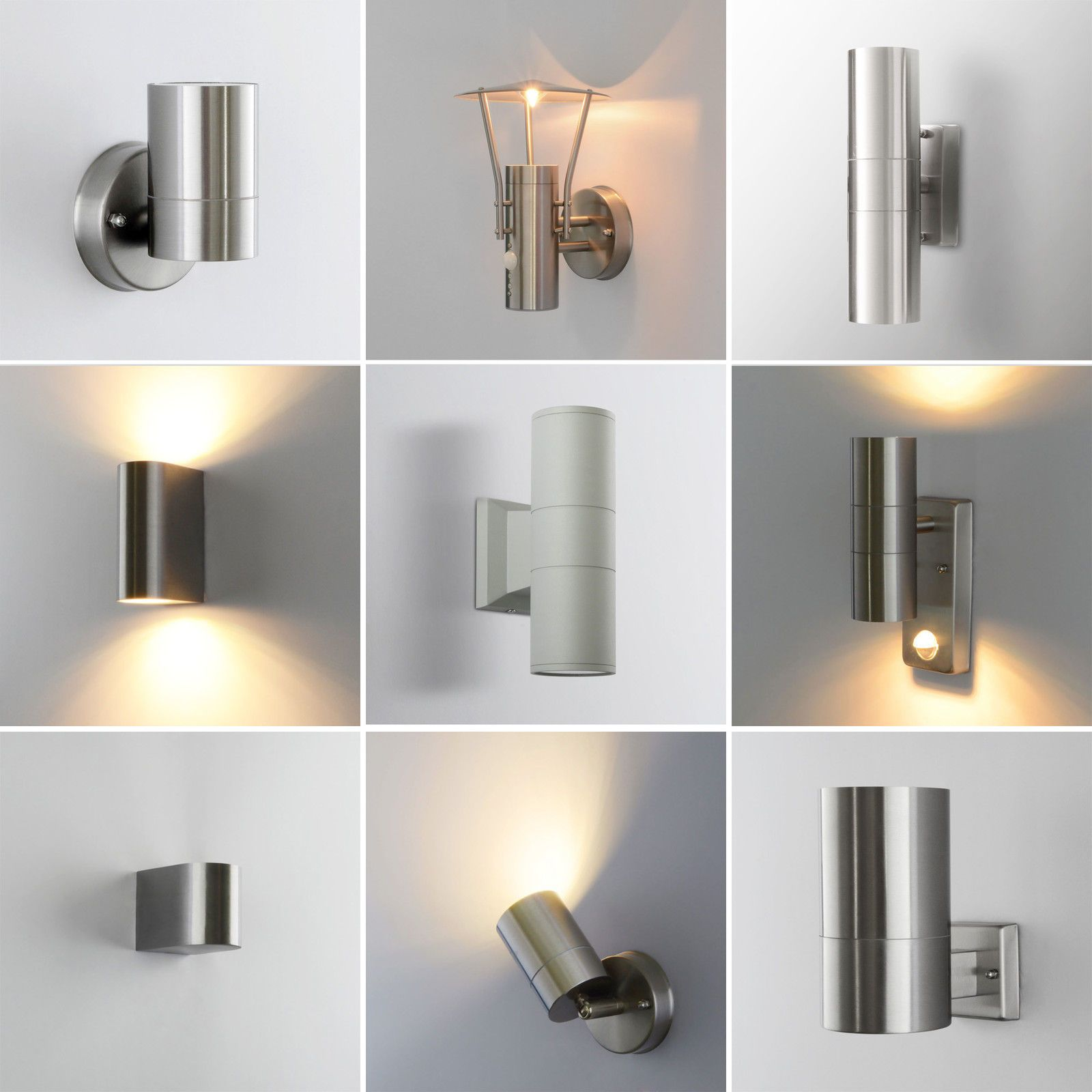 Details Zu Außenleuchte Außenwandleuchte Außenlampe Gartenlampe LED GU10  Edelstahl Lampe
