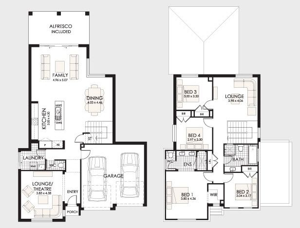 Planos De Casas De 2 Pisos De 120 M2 Buscar Con Google