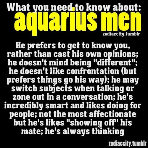 Aquarius man personality love