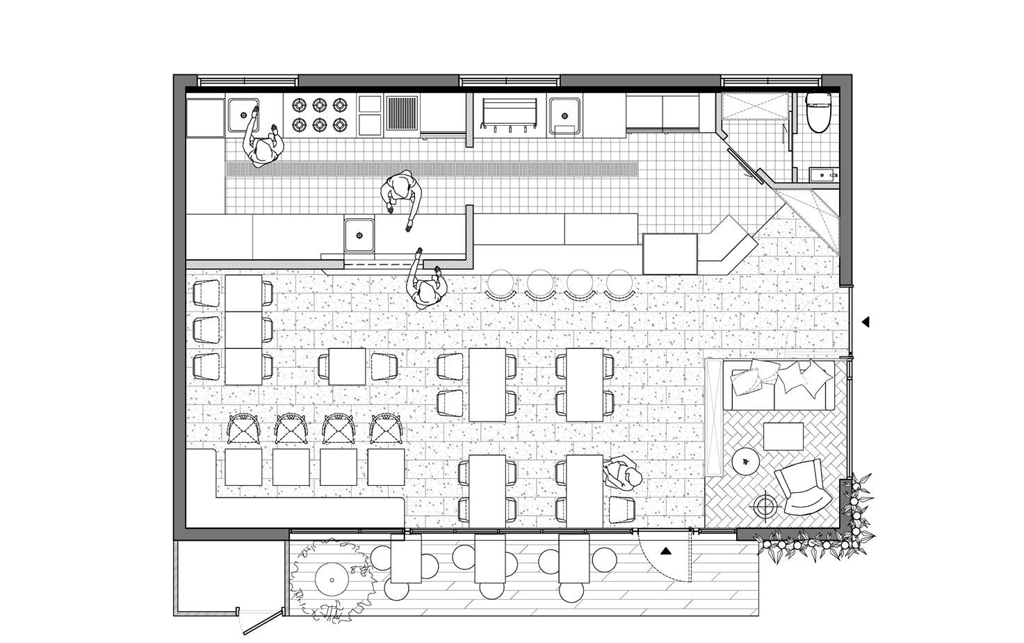 Piccola Botega Picture Gallery Restaurant Floor Plan Restaurant Plan Restaurant Layout