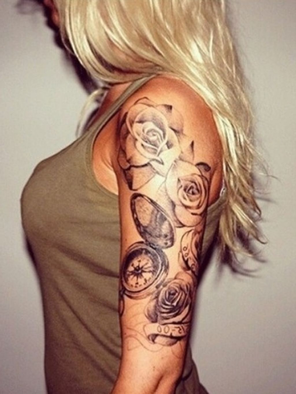 Women Half Sleeve Tattoo Designs Girls With Sleeve Tattoos Half Arm Sleeve Tattoo Rose Tattoo Sleeve