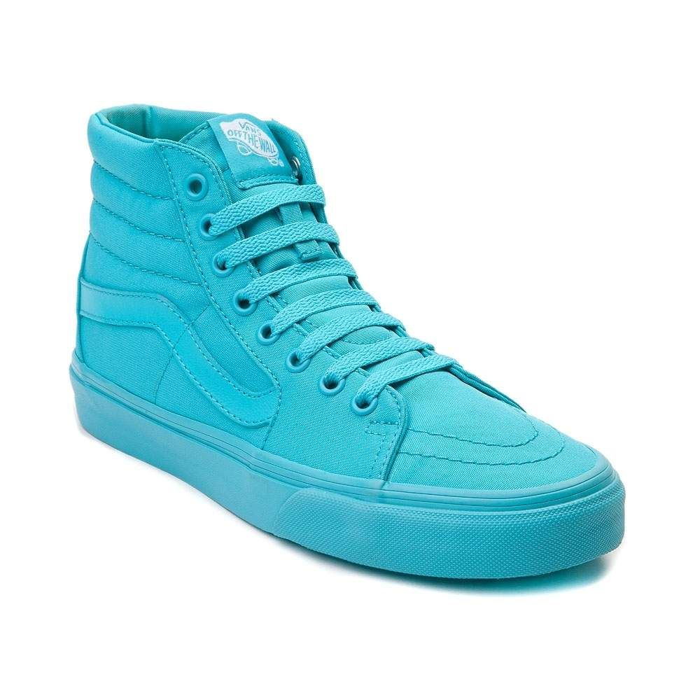 d995fc27c7 vans sk8 hi skate shoe turquoise monochrome