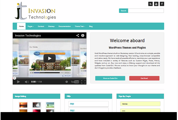 Gold theme for WordPress is based on latest version of Responsive ...