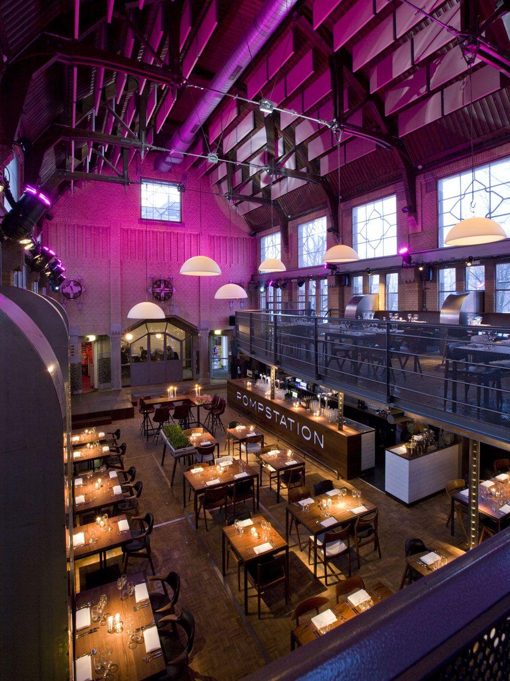Great Dining Ambiance Pompstation Restaurant Amsterdam