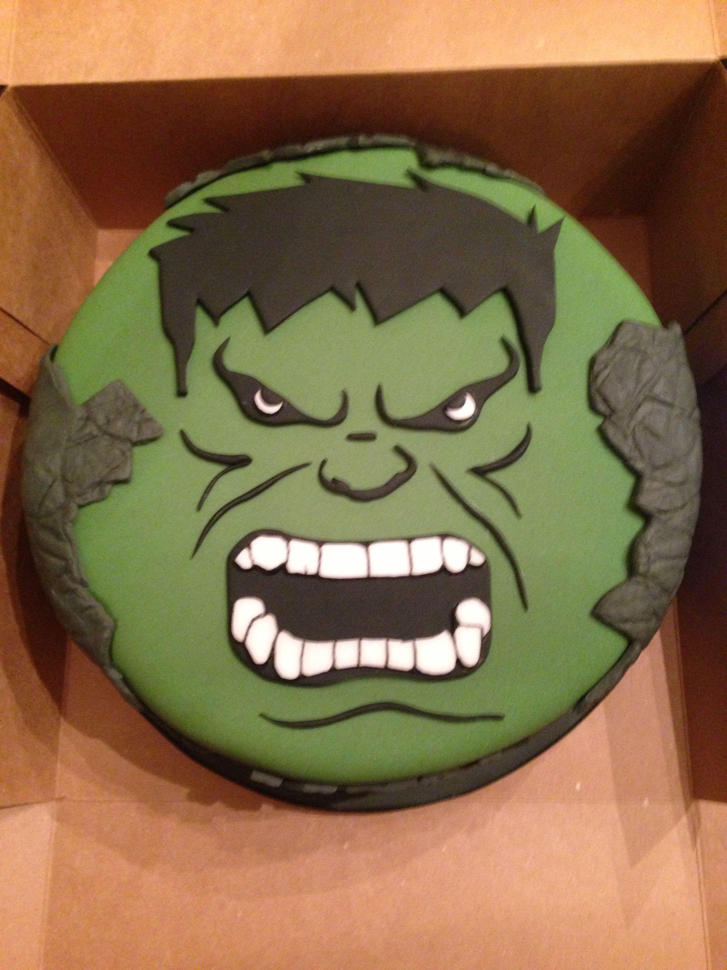 Incredible Hulk Cake I made my cake design Pinterest