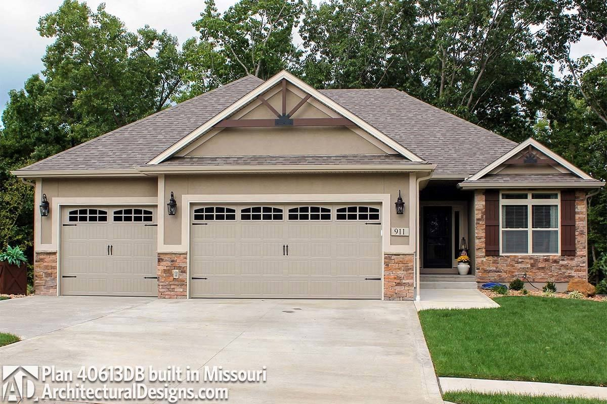 Plan 40613db 3 Bed Home Plan With Drop Zone House Plans Ranch Style Homes Architectural Design House Plans