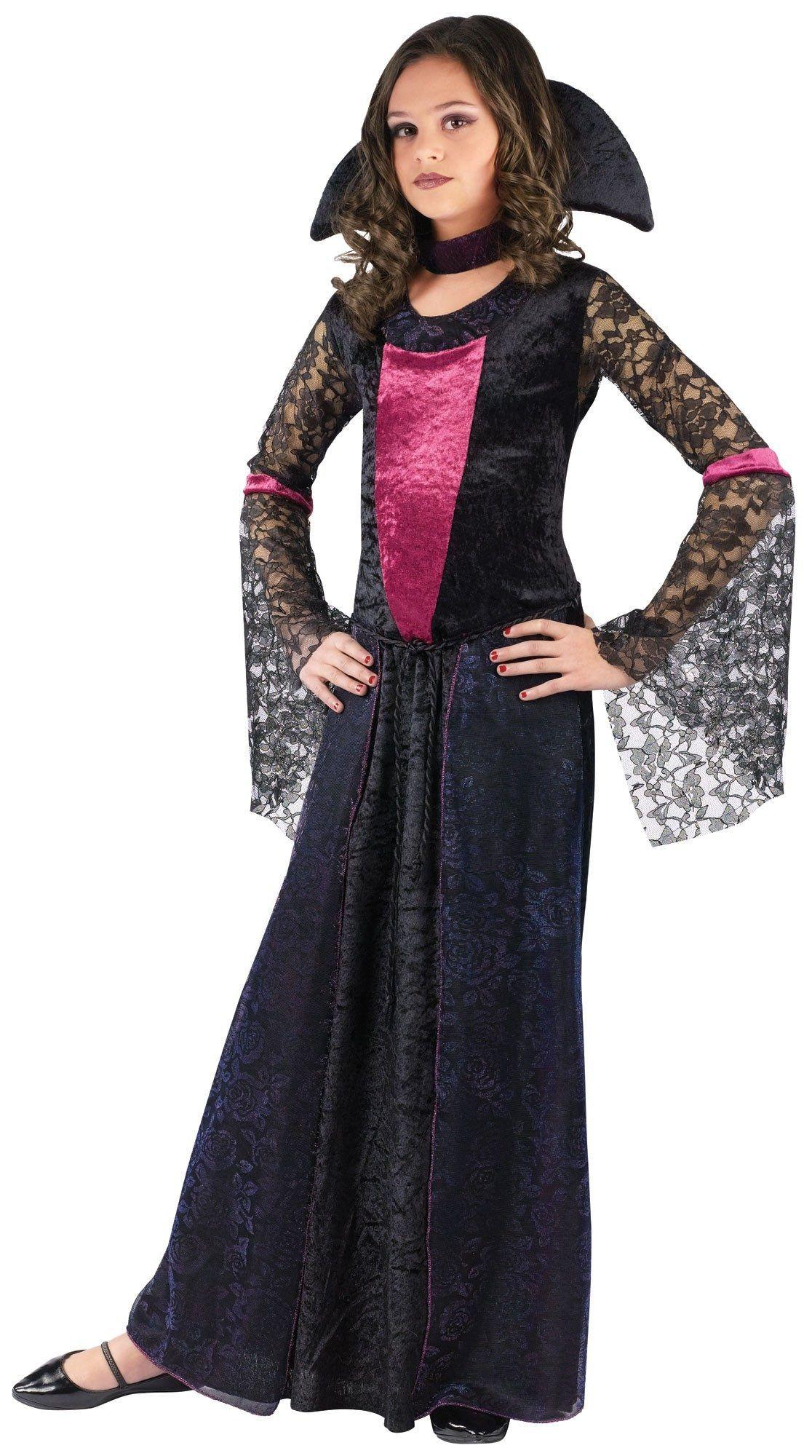 Child Vampire Countess Bloodthorne Costume Halloween Horror Girls Fancy Dress