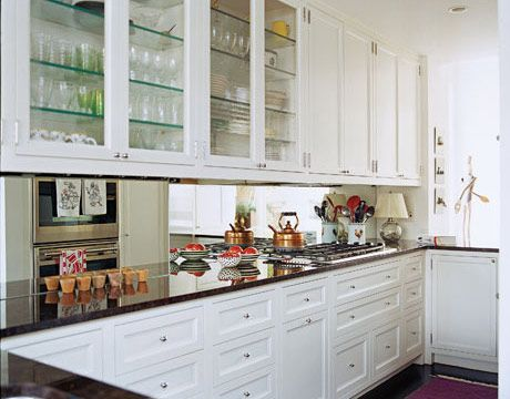 10 Tricks for Small Kitchens Upper cabinets Kitchens and Illusions
