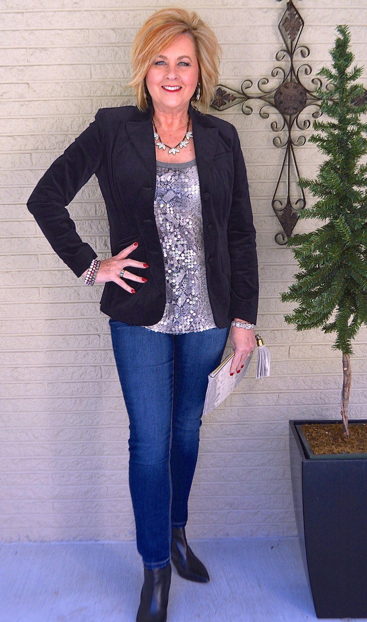 50 IS NOT OLD NEW YEAR'S EVE OUTFIT over50clothingwomen