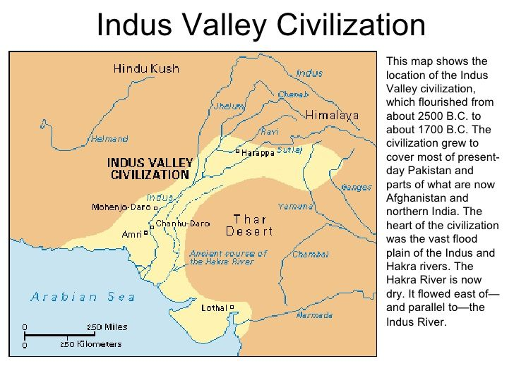 indus valley civilization map - 728×546