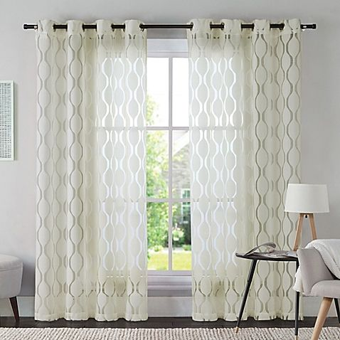 Vcny Aria Window Curtain Panel Bed Bath Beyond 23 Panel
