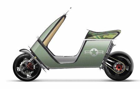 Piaggio Ct Concept Di Paolo Corcagnani Scooter Design Bike