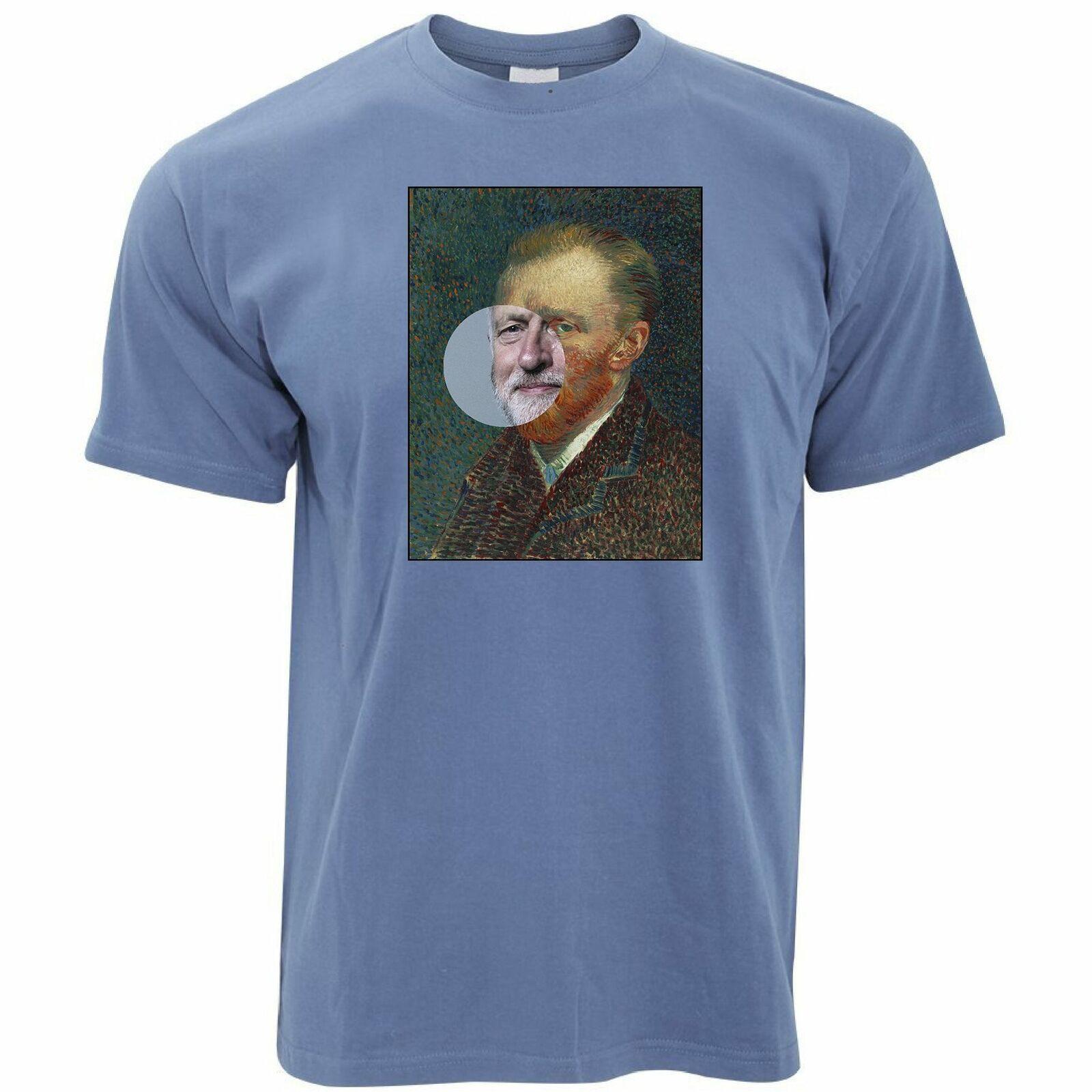 Political T Shirt Jeremy Corbyn Van Gogh Splice Political Art Collage 150