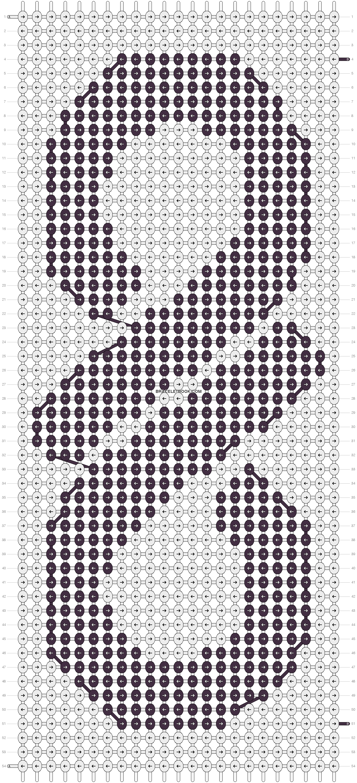 Alpha Pattern #9961 added by hamtro12   #PATRONES MACRAME KPOP ...