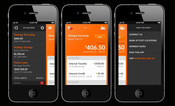 ING DIRECT Mobile Banking App 2013 Mobile Awards 本