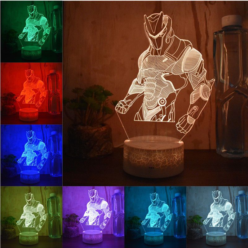 Battle Royale Game Fortnite 3d Led Night Light Action Figure Remote Table Lamp 3d Led Night Light Led Night Light Rainbow Night Light