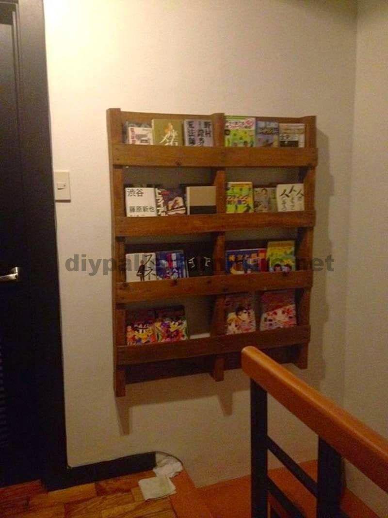 Muebles de palets revistero de pared con un palet - Revisteros de pared ...