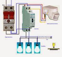 Esquemas el ctricos detector de movimiento con contactor - Lamparas con detector de presencia ...