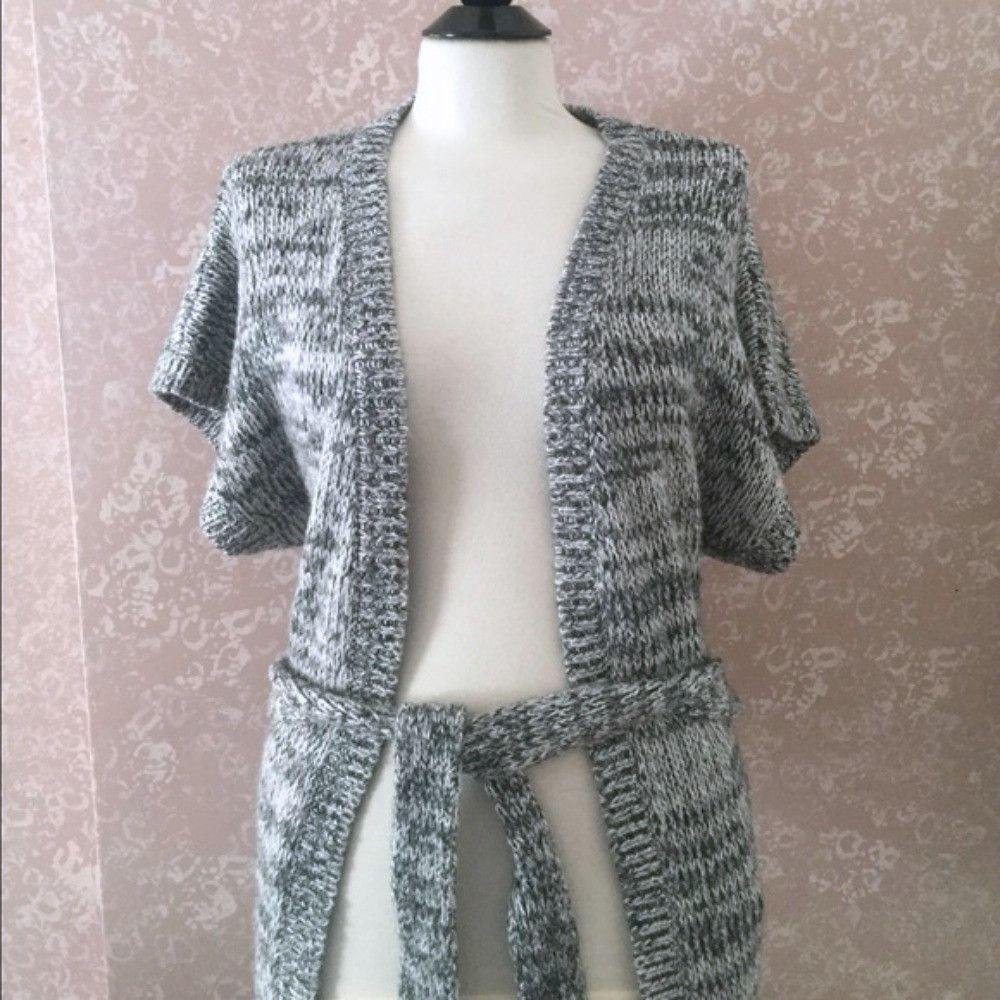Old Navy Chunky Cardigan Sweater Belt Gray Womens Extra Small XS ...