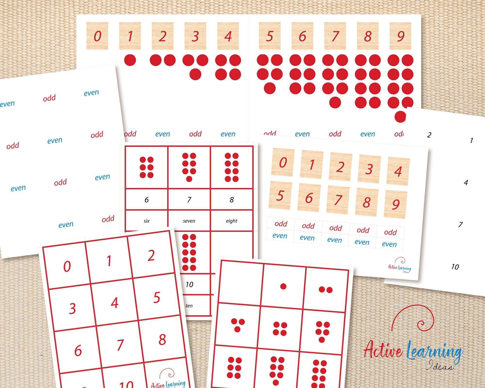 Printable Montessori Cards Counters Cards Card Patterns Learn To Count [ 1600 x 2000 Pixel ]