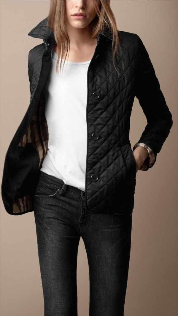 A lightweight diamond-quilted jacket with
