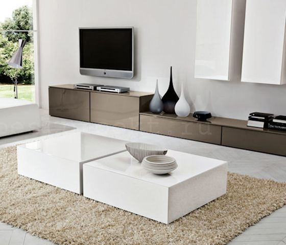 Verona Extendable High Gloss Coffee Table In White 21025: Venier Logico Evolution