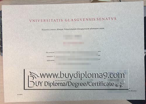 Vniversitatis Glasgvensis Senatvs certificate, Buy diploma, buy