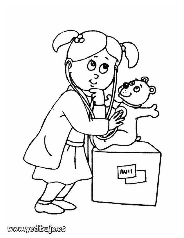Oficios y profesiones: Dibujos para pintar, una enfermera para ...