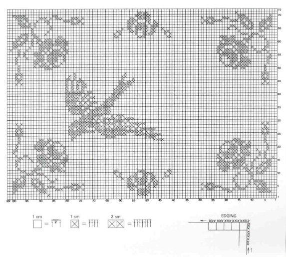 chemin de table hirondelle broderie pinterest crochet broderie et point de croix. Black Bedroom Furniture Sets. Home Design Ideas